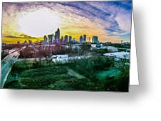 Aerial Of Charlotte North Carolina Skyline Greeting Card