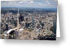 Aerial Of Downtown Toronto Ontario Greeting Card