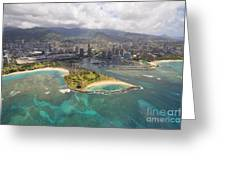 Aerial Of Magic Island Greeting Card