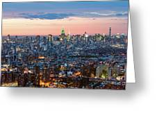 Aerial Of Midtown Manhattan With Empire State Building, New York Greeting Card