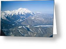 Aerial Of Mount Mckinley Greeting Card