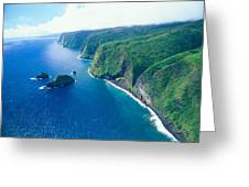 Aerial Of North Shore Greeting Card