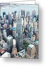 Aerial Of One World Trade Center, New York, Usa Greeting Card