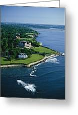 Aerial Of The Breakers, A Mansion Built Greeting Card
