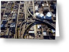 Aerial Of The Maze Near The Bay Bridge, San Francisco Greeting Card