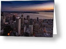 Aerial Seattle Westward View Greeting Card