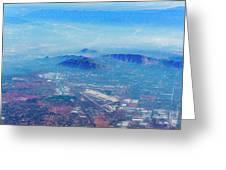 Aerial Usa. Los Angeles, California Greeting Card