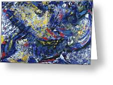 Aerial View/night City Greeting Card