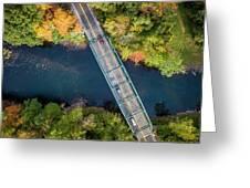 Aerial View Of A Bridge Greeting Card
