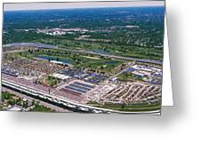 Aerial View Of A Racetrack Greeting Card