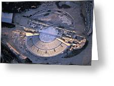 Aerial View Of Ancient Roman Theater Greeting Card