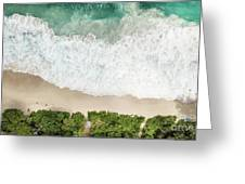 Aerial View Of Anse Intendance - Mahe - Seychelles Greeting Card