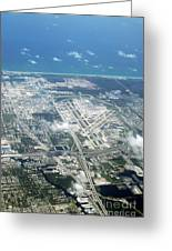 Aerial View Of Fort Lauderdale Airport. Fll Greeting Card