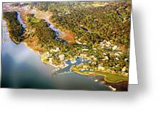 Aerial View Of Hilton Head Sc Greeting Card