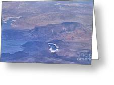 Aerial View Of Hoover Dam Greeting Card