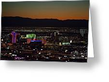 Aerial View Of Las Vegas City Greeting Card