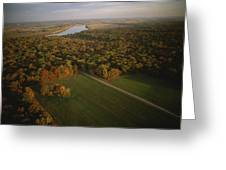 Aerial View Of Shiloh. The Tennessee Greeting Card