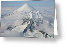 Aerial View Of Shishaldin Volcano Greeting Card