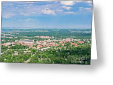 Aerial View Of The Beautiful University Of Colorado Boulder Greeting Card