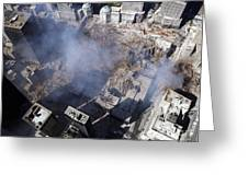 Aerial View Of The Destruction Where Greeting Card