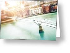 Aerial View Of The Millennium Bridge Greeting Card