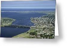 Aerial View Of The Mouth Of Merrimack Greeting Card