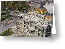 Aerial View Of The Palace Of Fine Arts Greeting Card