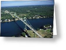 Aerial View Of The Thousand Island Greeting Card