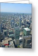 Aerial View Of Toronto Looking North Greeting Card
