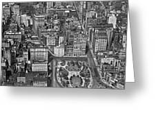 Aerial View Of Union Square Greeting Card