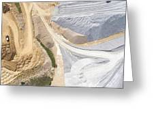 Aerial View Over The Building Materials Processing Factory. Greeting Card