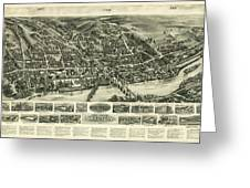 Aero View Of Watertown, Connecticut  Greeting Card