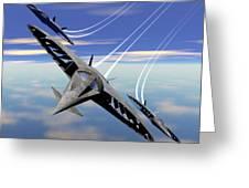 Aerobatics Over Water Greeting Card