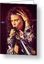 Aerosmith-94-steven-1192 Greeting Card