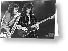 Aerosmith Tyler And Perry Greeting Card