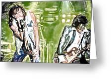 Aerosmith Watercolor Greeting Card