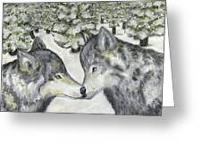 Affection In The Wild Greeting Card