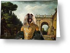 Afghan Hound-the Afternoon Promenade In Rome  Canvas Fine Art Print Greeting Card