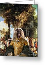 Afghan Hound-the Winch Canvas Fine Art Print Greeting Card
