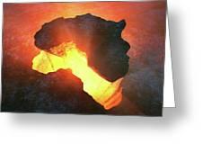 Africa Conceptual Design Greeting Card