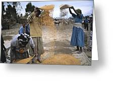 Africa, Ethiopia, Woman And Boy Greeting Card