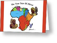 Africa In Perspective Greeting Card