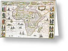Africa Nova Map Greeting Card