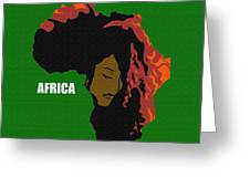 Africa Woman Greeting Card
