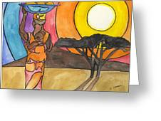 Africa Women Greeting Card