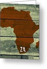Africa Za Greeting Card