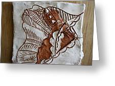 African Angel - Tile Greeting Card