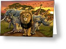 African Beasts Greeting Card