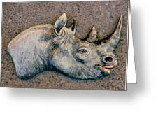 African Black Rhino Greeting Card