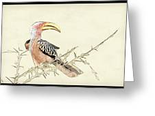 African Flying Banana Bird Greeting Card